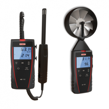 HD110 Portable Thermo-Hygrometer and LV130 Portable Thermo-Anemometer with Vane Probe